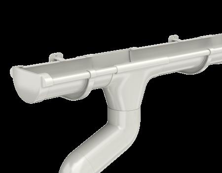 ТН ПВХ МАКСИ колено трубы 67°, белое - 7