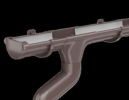 ТН ПВХ МАКСИ колено трубы 67°, коричневое - 3