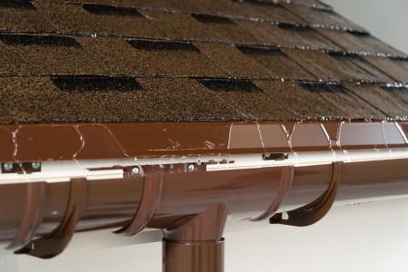 ТН ПВХ D125/82 мм желоб водосточный (1,5 м), коричневый - 5