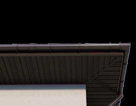 ТН ПВХ D125/82 мм соединитель желоба - 14
