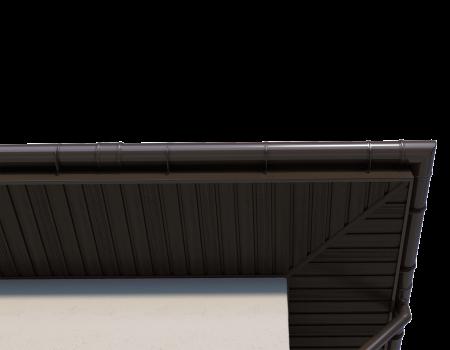 ТН ПВХ D125/82 мм угол желоба 90° - 15