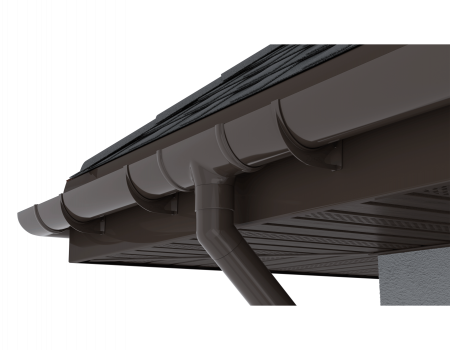 ТН ПВХ D125/82 мм желоб (1,5 м) - 12