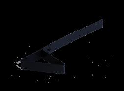 Снегозадержатель для мягкой кровли RAL 9005, черный