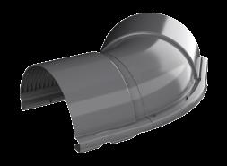 ТН МВС, угол желоба внешний 135°, графитово-серый