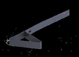 Снегозадержатель для мягкой кровли RAL 7024, серый