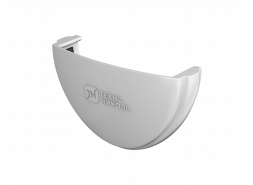 ТН ПВХ D125/82 мм заглушка желоба, белая