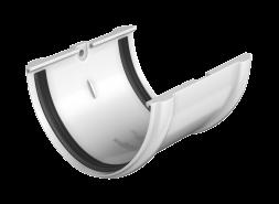 ТН ПВХ D125/82 мм соединитель желоба, белый