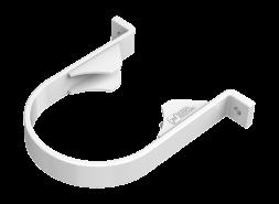 ТН ПВХ D125/82 мм хомут трубы, белый