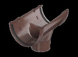 ТН ПВХ D125/82 мм воронка желоба, коричневая