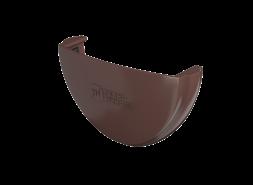 ТН ПВХ D125/82 мм заглушка желоба, коричневая