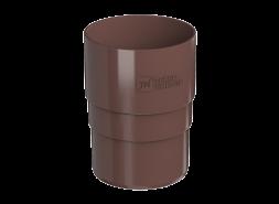 ТН ПВХ D125/82 мм муфта трубы, коричневая
