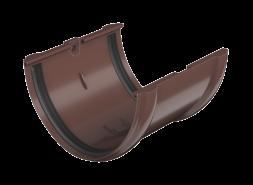 ТН ПВХ D125/82 мм соединитель желоба, коричневый