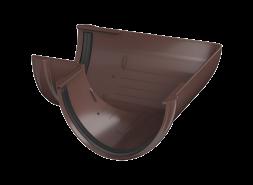 ТН ПВХ D125/82 мм угол желоба 90°, коричневый