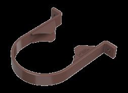 ТН ПВХ D125/82 мм хомут трубы, коричневый