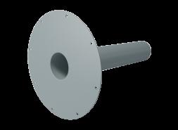 ПВХ воронка экструдированная, 100х240 мм