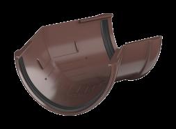 ТН ПВХ D125/82 мм угол желоба 135°, коричневый