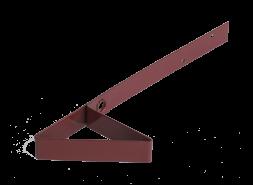 Снегозадержатель для мягкой кровли RAL 3009, красный