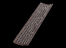 ТН ПВХ D125/82 мм решетка желоба защитная 0,6м, коричневая