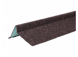 ТЕХНОНИКОЛЬ Планка торцевая с гранулятом, левая, коричневый, шт.