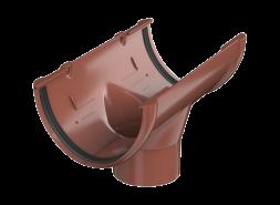 ТН ПВХ D125/82 мм воронка желоба, красная