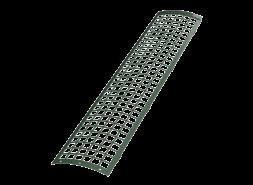 ТН ПВХ D125/82 мм решетка желоба защитная 0,6м, зеленая