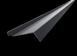 Планка примыкания PVC RAL 9005, черная, шт.