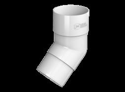 ТН ПВХ D125/82 мм колено трубы 108°, белое
