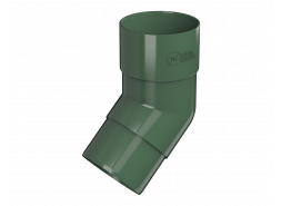 ТН ПВХ D125/82 мм колено трубы 108°, зеленое