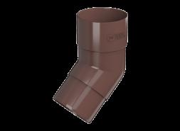 ТН ПВХ D125/82 мм колено трубы 108°, коричневое