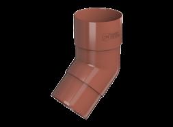 ТН ПВХ D125/82 мм колено трубы 108°, красное