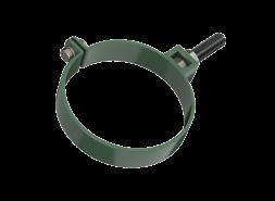 ТН ПВХ D125/82 мм хомут трубы универсальный 180мм, зеленый