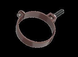 ТН ПВХ D125/82 мм хомут трубы универсальный 180мм, коричневый