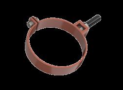 ТН ПВХ D125/82 мм хомут трубы универсальный 180мм, красный