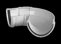 ТН ПВХ D125/82 мм угол желоба, регулируемый 90°-150°, белый