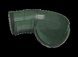 ТН ПВХ D125/82 мм угол желоба, регулируемый 90°-150°, зеленый