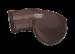 ТН ПВХ D125/82 мм угол желоба, регулируемый 90°-150°, коричневый