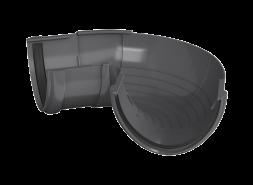 ТН ПВХ D125/82 мм угол желоба, регулируемый 90°-150°, серый