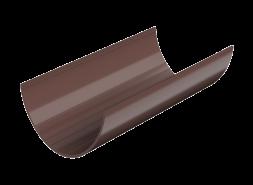 ТН ПВХ D125/82 мм желоб (1,5 м), коричневый