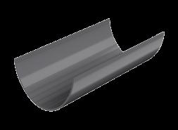 ТН ПВХ D125/82 мм желоб (1,5 м), серый