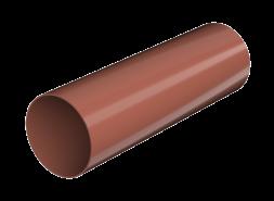 ТН ПВХ D125/82 мм труба (1,5 м), красная