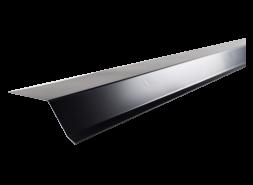 Планка карнизная полиэстер RAL 9005 черная, шт.