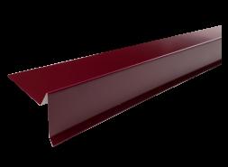 Планка торцевая полиэстер RAL 3005 красная, шт.