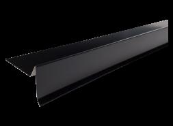 Планка торцевая полиэстер RAL 9005 черная, шт.