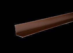 ТЕХНОНИКОЛЬ HAUBERK уголок металлический внутренний, полиэстер, RAL 8017 коричневый, шт.