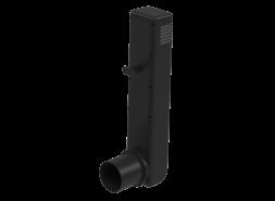 Цокольный дефлектор, темно-серый