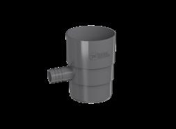 ТН ПВХ D125/82 мм Отвод для сбора воды, серый
