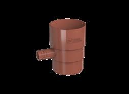 ТН ПВХ D125/82 мм Отвод для сбора воды, красный