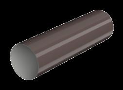 ТН ПВХ МАКСИ труба 1м, коричневая