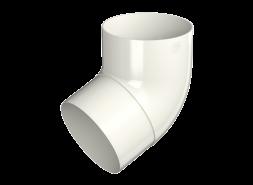 ТН ПВХ МАКСИ колено трубы 67°, белое