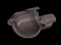 ТН ПВХ МАКСИ угол желоба 135°, коричневый